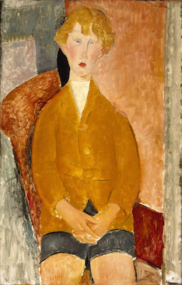 Amedeo Modigliani, Garçon en culotte courte, vers 1918. Dallas  Museum  of  Art,  don  de  la  Leland  Fikes  Foundation, Inc.  Photo  : courtesy Dallas Museum of Art